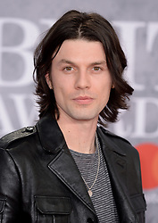 James Bay attending the Brit Awards 2019 at the O2 Arena, London. Photo credit should read: Doug Peters/EMPICS. EDITORIAL USE ONLY