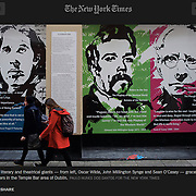 "Screengrab of ""Seamus Heaney Work Wins Contest Honoring Ireland's Poets and Its Past"" published in The New York Times"
