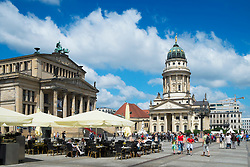 View of historic Gendarmenmarkt square in Mitte Berlin Germany