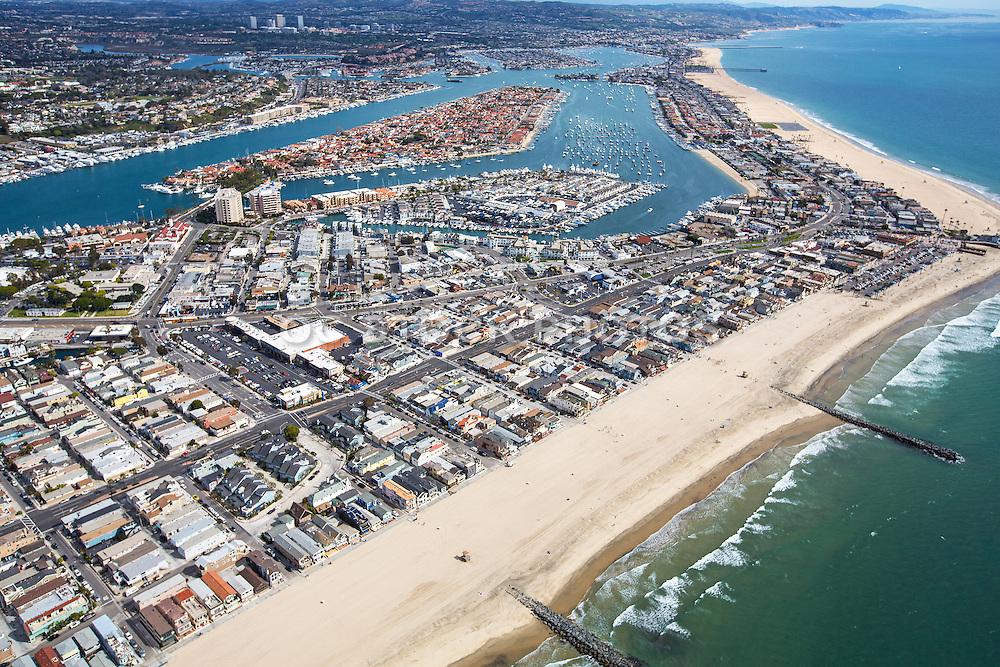 North Newport Beach Aerial Stock Photo