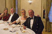 MARINA ARKELL; LORD BIDDULPH The Royal Caledonian Ball 2015. Grosvenor House. Park Lane, London. 1 May 2015.