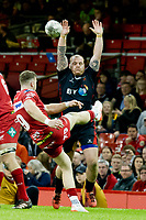Rugby Union - 2016 / 2017 Pro12 - [Judgement Day V]: Newport Gwent Dragons vs. Scarlets<br /> <br /> Gareth Davies  of Llanelli Scarlets  kicks to clear, at Principality Stadium [Millennium Stadium], Cardiff.<br /> <br /> COLORSPORT/WINSTON BYNORTH