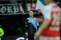 03-04-2010 VOETBAL: AZ - FC UTRECHT: ALKMAAR<br /> FC utrecht verliest met 2-0 van AZ / Een balende Ricky van Wolfswinkel<br /> ©2009-WWW.FOTOHOOGENDOORN.NL