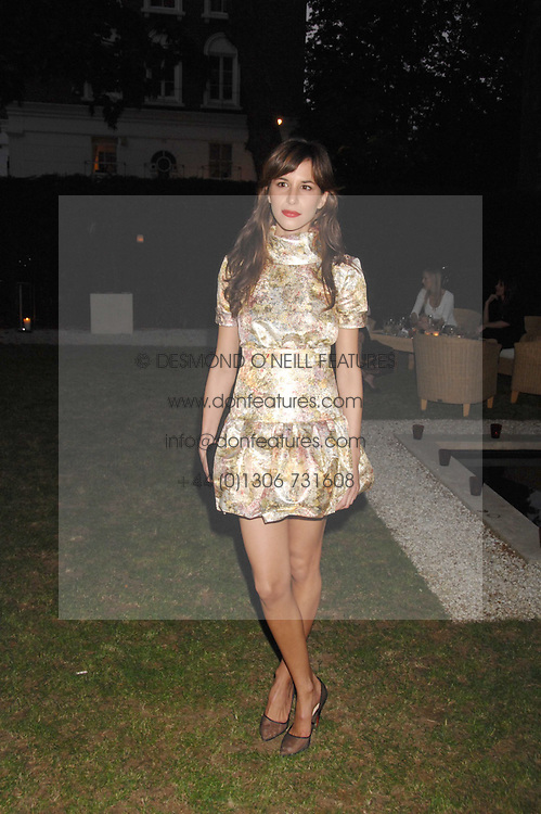 CAROLINE SIEBER at a party to celebrate Le Touessrok a luxury resort in Mauritius, held at The Hempel, 31-35 Craven Hill Gardens, London W2 on 12th June 2007.<br />