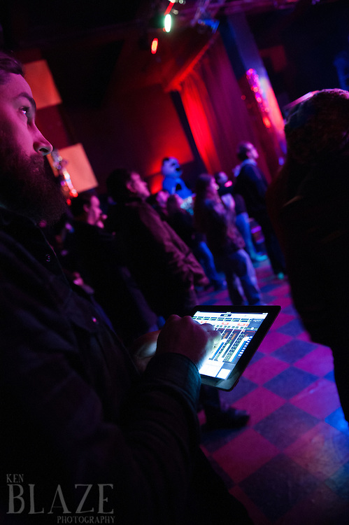 The BIG SHOW Lottery League 2013.Ryan Foltz running sound...ALL RIGHTS RESERVED. © KEN BLAZE..