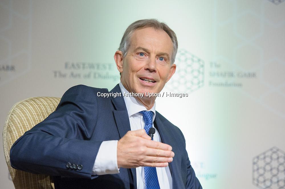 Tony Blair during the Shafik Gabr Foundation's initiative, Dorchester Hotel, London, UK, November 15, 2012. Photo by Anthony Upton / i-Images.