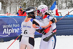 Super Combined and Super G, ROTHFUSS Andrea, LW6/8-2, GER, BOCHET Marie, FRA at the WPAS_2019 Alpine Skiing World Championships, Kranjska Gora, Slovenia