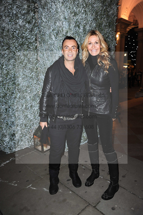 JULIEN MACDONALD and MELISSA ODABASH at a Winter Party given by Tiffany & Co. Europe to launch the 10th season of Somerset House's Ice Skating Rink at Somerset House, The  Strand, London on 16th November 2009.