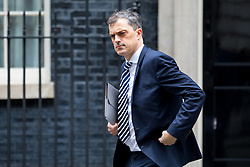 © Licensed to London News Pictures. 29/01/2018. London, UK. Chief Whip Julian Smith leaving Downing Street after attending a Brexit meeting this morning. Photo credit : Tom Nicholson/LNP