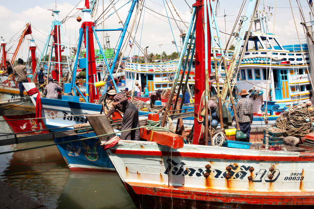 Sha Am fishing harbor, Sha Am, Thailand