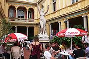 Saturday September 6th 2008. Perpignan, France..20th Visa Pour L'Image. Photojournalism Festival..Hotel Pams. Rue Emile Zola.