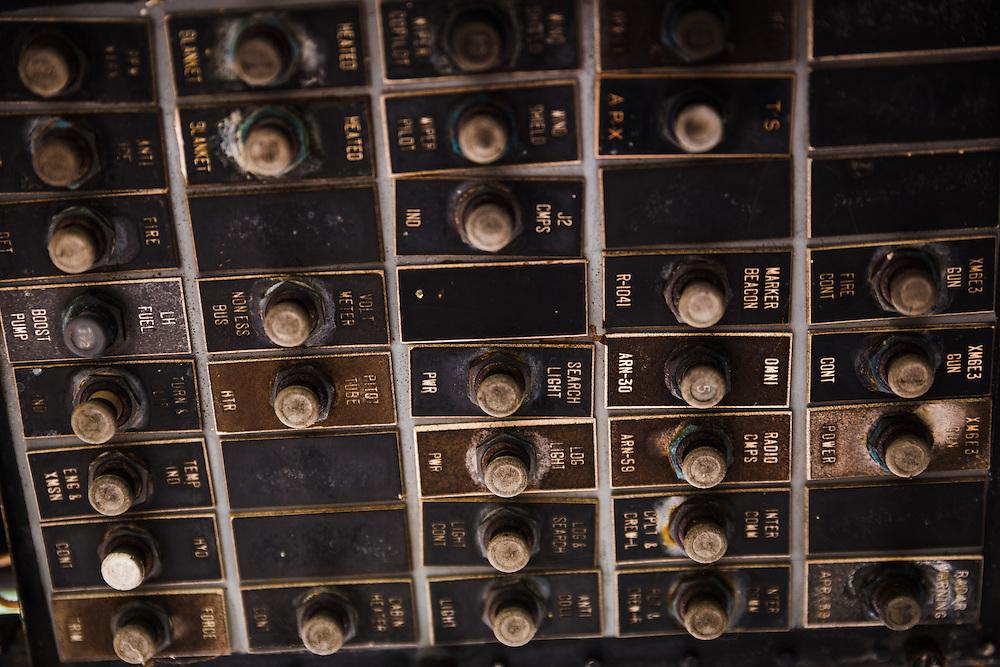 Circuit Panel inside an abandoned UH-1 Huey