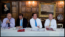 The Prime Minister David Cameron holds a cabinet meeting at Chequers, his country residence before his trip to Turkey and India, with Cabinet Secretary Sir Gus O'Donnell (Blue Tie Jacket on, 2nd left), Next to the PM) Friday July 23, 2010. Cabinet Secretary Sir Gus O'Donnell steps down at the end of the year and is replaced by Jeremy Heywood, currently Permanent Secretary at No. 10, will replace Gus O'Donnell as Cabinet Secretary. Photo By Andrew Parsons/ i-Images
