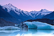 Sunrise over Tasman Glacier, New Zealand