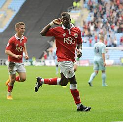 Bristol City's Kieran Agard celebrates  - Photo mandatory by-line: Joe Meredith/JMP - Mobile: 07966 386802 - 18/10/2014 - SPORT - Football - Coventry - Ricoh Arena - Bristol City v Coventry City - Sky Bet League One