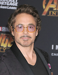 April 23, 2018 - Los Angeles, California, United States - April 23rd 2018 - Los Angeles, California  USA - Actor ROBERT DOWNEY JR   at the  World Premiere of Marvel Studios ''Avengers Infinity War''  held at the El Capitan Theater, Hollywood, Los Angeles. (Credit Image: © Paul Fenton/ZUMA Wire)