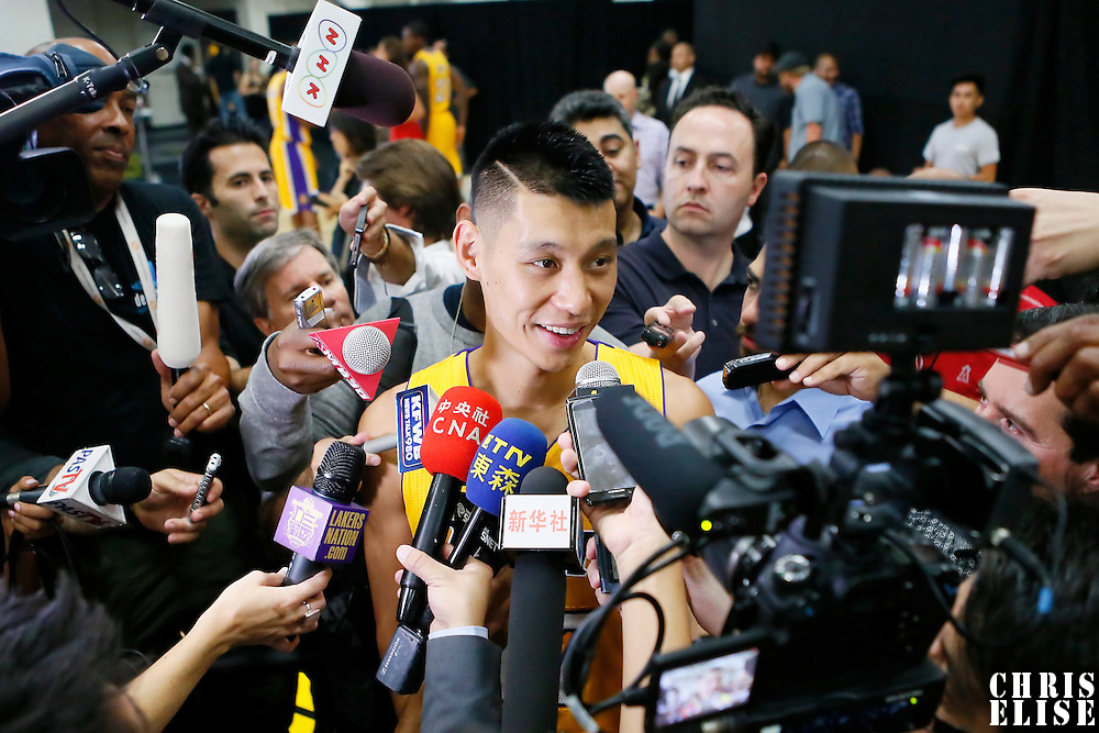 29 September 2014: Jeremy Lin is seen during the Los Angeles Lakers Media Day, at Toyota Sports Center, El Segundo, California, USA.