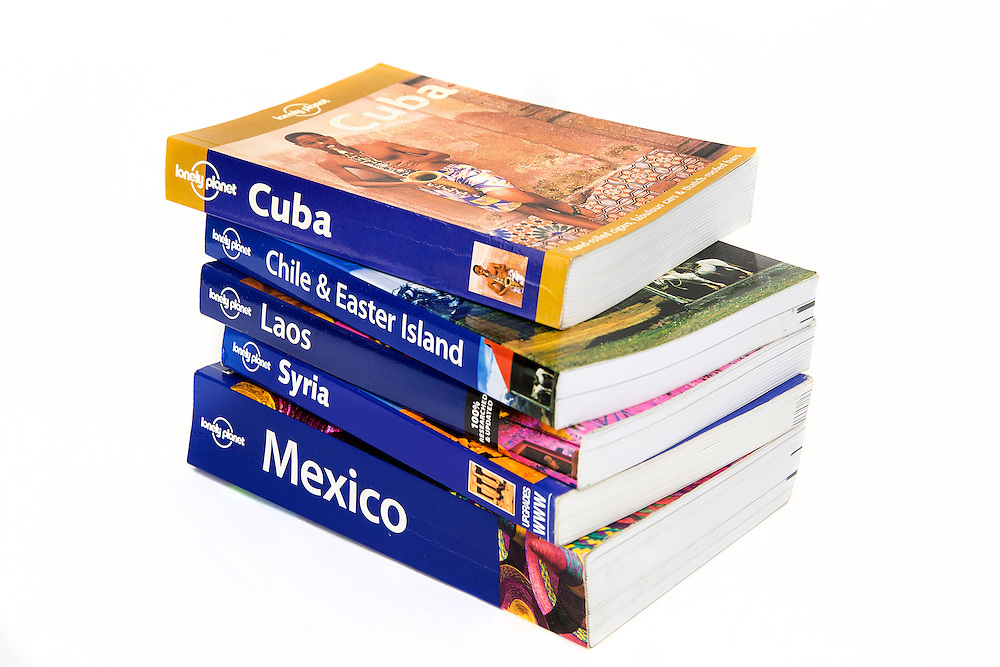 Travel guide booksfor destinations around the world. These guides are published by Lonely Planet one of the largest travel guide book publishers in the world.