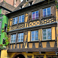 Half-timbered Building in Strasbourg, France <br />