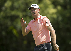 May 26, 2018 - Fort Worth, TX, USA - FORT WORTH, TX - MAY 26, 2018 - Justin Rose birdies #11 during the third round of the 2018 Fort Worth Invitational PGA at Colonial Country Club in Fort Worth, Texas (Credit Image: © Erich Schlegel via ZUMA Wire)