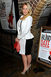 Laura Hamilton during Blind Date - press night, Charing Cross Theatre,  London, United Kingdom, 04 June 2013. Photo by Chris Joseph / i-Images.