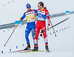 21.02.2019, Langlauf Arena, Seefeld, AUT, FIS Weltmeisterschaften Ski Nordisch, Seefeld 2019, Langlauf, Herren, Sprint, im Bild v.l. Federico Pellegrino (ITA), Gleb Retivykh (RUS) // f.l. Federico Pellegrino of Italy and Gleb Retivykh of Russian Federation during the men's Sprint competition of the FIS Nordic Ski World Championships 2019. Langlauf Arena in Seefeld, Austria on 2019/02/21. EXPA Pictures © 2019, PhotoCredit: EXPA/ Stefan Adelsberger