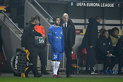 February 14, 2019 - Prague, CZECH REPUBLIC - Genk's Alejandro Pozuelo and Genk's head coach Philippe Clement pictured during a soccer game between Czech club SK Slavia Praha and Belgian team KRC Genk, the first leg of the 1/16 finals (round of 32) in the Europa League competition, Thursday 14 February 2019 in Prague, Czech Republic. BELGA PHOTO YORICK JANSENS (Credit Image: © Yorick Jansens/Belga via ZUMA Press)