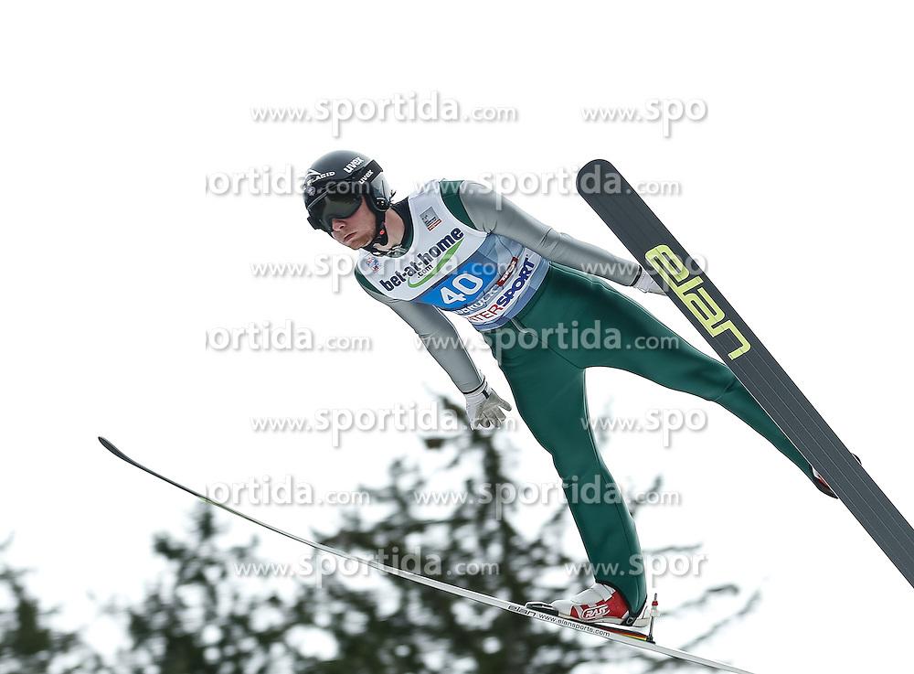 04.01.2014, Bergisel Schanze, Innsbruck, AUT, FIS Ski Sprung Weltcup, 62. Vierschanzentournee, Probesprung, im Bild Peter Frenette (USA) // Peter Frenette of United States during Trial Jump of 62nd Four Hills Tournament of FIS Ski Jumping World Cup at the Bergisel Schanze, Innsbruck, Austria on 2014/01/04. EXPA Pictures © 2014, PhotoCredit: EXPA/ Peter Rinderer