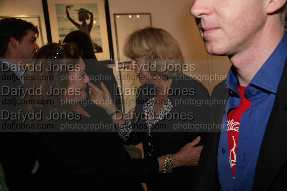 THE COUNTES OF LICHFIELD AND THE DUCHESS OF CORNWALL  Norman Parkinson and Philip Treacy, an exhibition of photographs by Norman Parkinson and drawings by celebrated milliner Philip Treacy. ELEVEN Gallery. VICTORIA. LONDON. 3 July 2007.  -DO NOT ARCHIVE-© Copyright Photograph by Dafydd Jones. 248 Clapham Rd. London SW9 0PZ. Tel 0207 820 0771. www.dafjones.com.