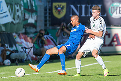 09.08.2015, Stadion Lohmühle, Luebeck, GER, DFB Pokal, VfB Luebeck vs SC Paderborn 07, 1. Runde, im Bild Marcel Ndjeng (Nr. 7, SC Paderborn) gegen Lukas Knechtel (Nr. 3, VfB Luebeck) // during German DFB Pokal first round match between VfB Luebeck vs SC Paderborn 07 at the Stadion Lohmühle in Luebeck, Germany on 2015/08/09. EXPA Pictures © 2015, PhotoCredit: EXPA/ Eibner-Pressefoto/ KOENIG<br /> <br /> *****ATTENTION - OUT of GER*****