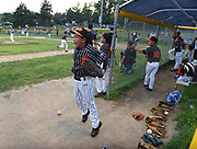 Powerbaseball Angels during a game between ABYB Bay State A Little League team and a visiting Chinese team from Beijing, the Powerbaseball Angels, at Veterans Field in Acton, Aug. 6, 2018. Acton won the game.   [Wicked Local Photo/James Jesson]