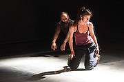 © Tony Nandi. 11/11/2014. zero visibility corp with ...its only a rehearsal, performed at Sadler's Wells Theatre as part of Sadler's Wells' Northern Light Season celebrating Nordic Dance. Dancers: Line v & Dimitri Jourde.