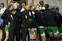 Players of Olimpija at  handball game between women team RK Olimpija vs ZRK Brezice at 1st round of National Championship, on September 13, 2008, in Arena Tivoli, Ljubljana, Slovenija. Olimpija won 41:17. (Photo by Vid Ponikvar / Sportal Images)