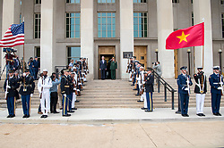 Secretary of Defense Jim Mattis meets with Gen. Ngo Xuan Lich, the defense minister of Vietnam, at the Pentagon in Washington, D.C., Aug. 8, 2017. (DOD photo by U.S. Air Force Staff Sgt. Jette Carr)