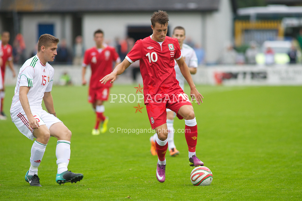 HAVERFORDWEST, WALES - Wednesday, August 10, 2011: Wales' Billy Bodin in action against Hungary during an Under-21 International Friendly at the Conygar Bridge Meadow Stadium. (Photo by Gareth Davies/Propaganda)