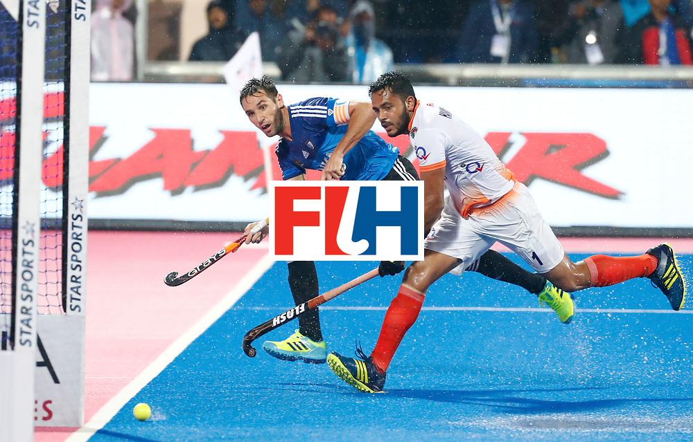 Odisha Men's Hockey World League Final Bhubaneswar 2017<br /> Match id:19<br /> India v Argentina<br /> Foto: Matias Paredes (Arg) and Harmanpreet Singh (Ind) <br /> COPYRIGHT WORLDSPORTPICS KOEN SUYK