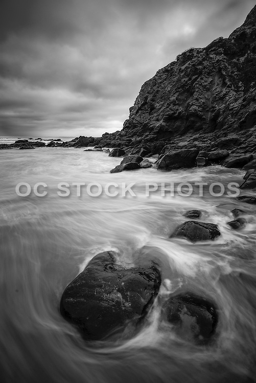 Crescent Bay in Black and White