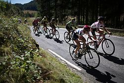 Nicole Hanselmann (SUI) of Cervélo-Bigla Cycling Team (R2) and Cecile Ultrup Ludwig (DEN) of BMS Birn Team dig deep on second KOM climb of the 117,5 km third stage of the 2016 Ladies' Tour of Norway women's road cycling race on August 13, 2016 between Svinesund, Sweden and Halden, Norway. (Photo by Balint Hamvas/Velofocus)
