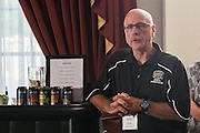 Master of Athletics Administration program director Scott Smith addresses attendees during the opening reception in the Ohio University Inn on Thursday, June 25, 2015. © Ohio University / Photo by Rob Hardin