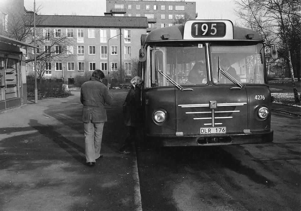 Ekensberg, 195:ans ändhållplats på 70-talet