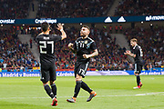 Nicolas Otamendi of Argentina celebrates his goal during the International friendly game football match between Spain and Argentina on march 27, 2018 at Wanda Metropolitano Stadium in Madrid, Spain - Photo Rudy / Spain ProSportsImages / DPPI / ProSportsImages / DPPI