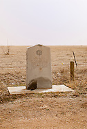 Historical marker, east of Tulia Texas, General Ranald S. Mackenzie, 4th U.S. Cavalry, slaughter of 1450 Indian Horses captured in Battle in Palo Duro Canyon in 1874, Texas