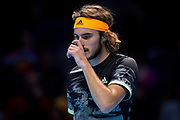 Stefanos Tsitsipas of Greece during the Nitto ATP Finals at the O2 Arena, London, United Kingdom on 13 November 2019.