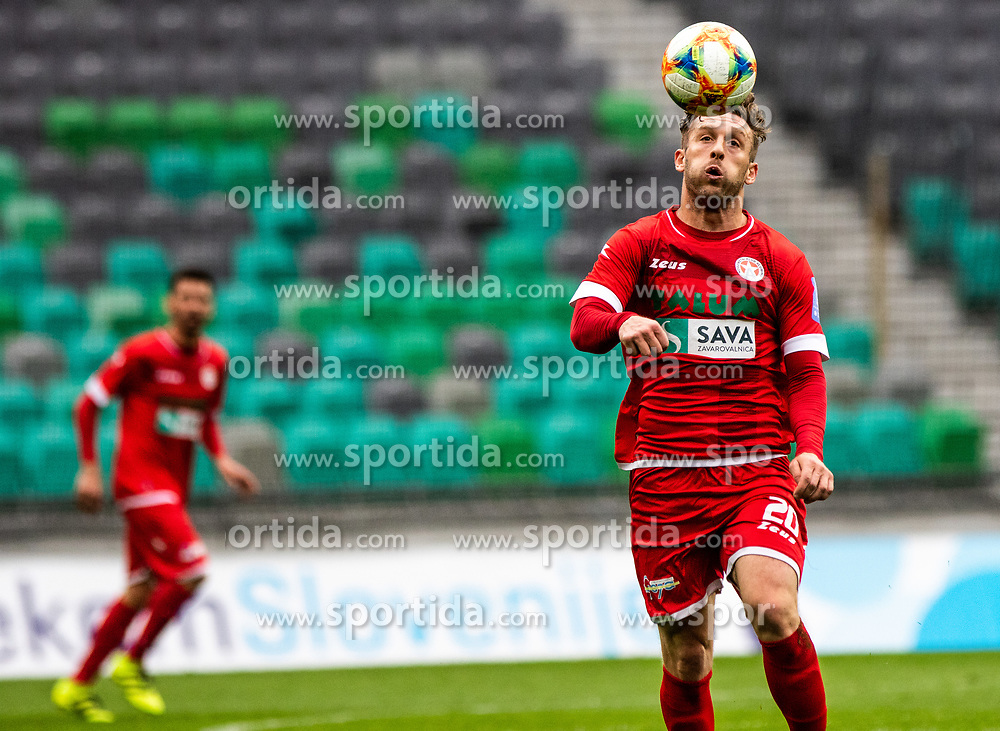 Muminovic Sanin of NK Aluminij during football match between NK Olimpija Ljubljana and NK Aluminij in Round #27 of Prva liga Telekom Slovenije 2018/19, on April 14th, 2019 in Stadium Stozice, Slovenia Photo by Matic Ritonja / Sportida