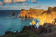 Madeira cliffs at sunset
