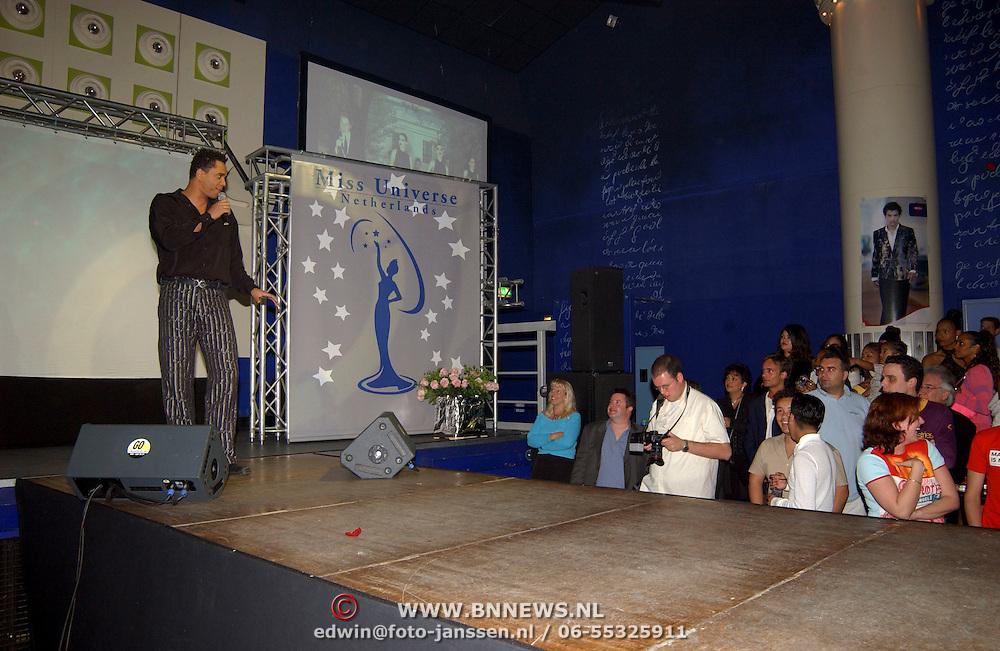 Finale Nederlandse Miss Universe 2004, optreden Franklin Brown