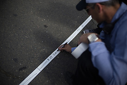 Race official assigns grid postitions before the fourth, 70 km road race stage of the Amgen Tour of California - a stage race in California, United States on May 22, 2016 in Sacramento, CA.