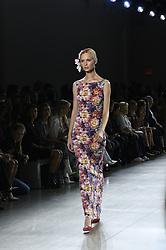 September 12, 2018 - New York, New York, U.S - September, 2018 - New York, New York  U.S. - A model on the runway at the CHIARA BONI LA PETITE ROBE S/S 2019 RTW show during New York Fashion Week 2018.  (Credit image (c) Theano Nikitas/ZUMA Wire/ZUMAPRESS.com (Credit Image: © Theano Nikitas/ZUMA Wire)