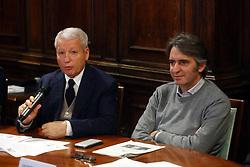 MAURO FABRIS E FEDERICO SBOARINA<br /> CONFERENZA DI PRESENTAZIONE FINAL FOUR COPPA ITALIA PALLAVOLO FEMMININILE A VERONA<br /> VERONA 25-01-2019<br /> FOTO FILIPPO RUBIN / LVF