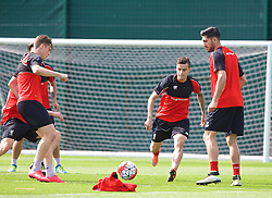 LIVERPOOL, ENGLAND - Friday, May 13, 2016: Liverpool's Philippe Coutinho Correia during a training session at Melwood Training Ground ahead of the UEFA Europa League Final against Seville FC. (Pic by David Rawcliffe/Propaganda)